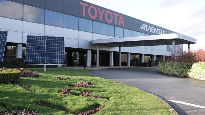 Toyota's Burnaston plant could be in trouble if the UK crashes out of the EU without a trade deal.